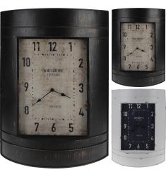 Reloj pared metal 55x39cm. NEGRO