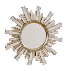 Espejo redondo sol dorado 50cm.