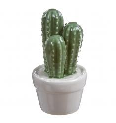 Maceta cactus porcelana 13x5cm.