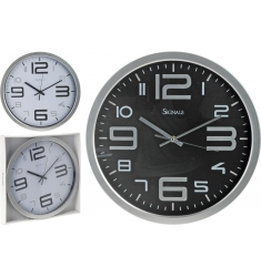RELOJ PARA LA PARED 35CM.2ASS