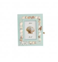 Caja llaves-portafoto madera-playa 10x15cm