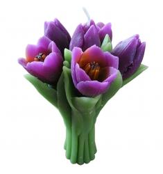 Vela ramo tulipanes