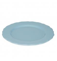 Plato postre azul 21cm