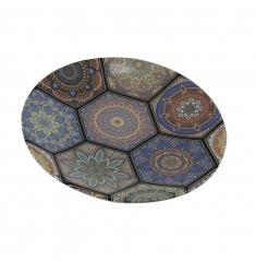 Plato postre ceramica mosaico 20cm