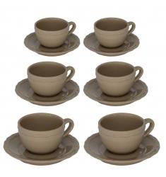 Set 12 piezas de café MARRÓN