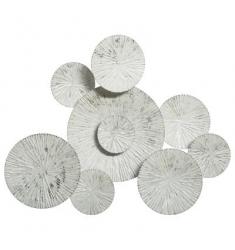 Cuadro  pared de metal 75x61  plata