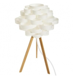 Lámpara sobremesa h57  plástico-madera
