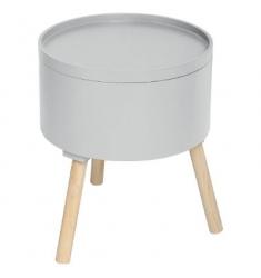 Mesa de centro cofre gris 38x45cm h.