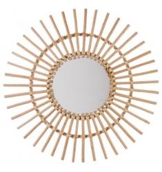 Espejo de ratán de sol 58 cm.