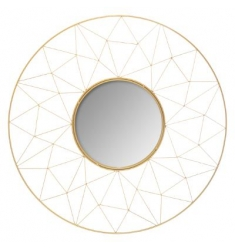 Espejo metal dorado metal 50d. dorado