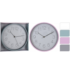 RELOJ PARED DE 30CM COLORES.4ASS