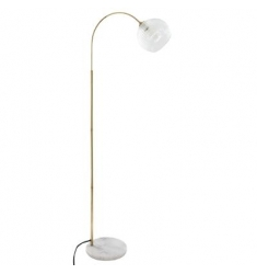 Lámpara pie mármol tulipa cristal,1,80cm