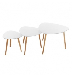 Set 3 mesas centro blanca 34x35-47x40-60x45