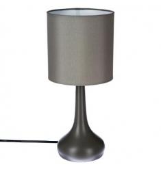 Lámpara táctil metal gris H33