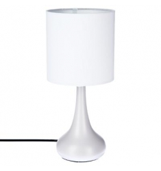 Lámpara táctil metal Blanco H33