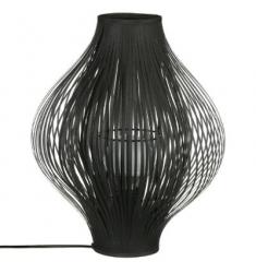 Lampara negra poliester y metal 45x34cm diametro