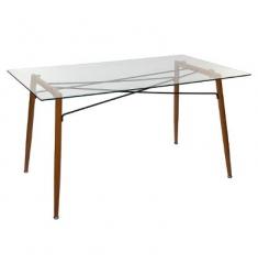 Mesa comedor tapa cristal 140x80cm