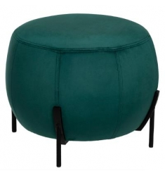 Puff en terciopelo verde 44x35cm