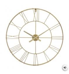 Reloj pared metal oro 70cm diametro