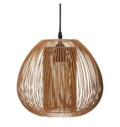 Lampara techo metal color madera 25x28cm diametro