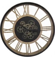 Reloj metal-madera d 57