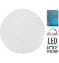 Bola LED 18cm. RGB efecto cristal