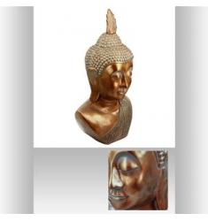 Cabeza de Buda en metal de cobre de 113x60x46cm