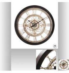 Reloj mecánico de resina  y cristal D60X7cm