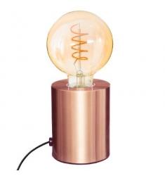 Lámpara metalica tubo cobre Alto 10- D 9cm