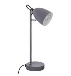 Lámpara de pie escritorio de metal gris Alto 36cm