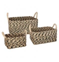 juego de 3 cestas rectangulares 43-33-24cm