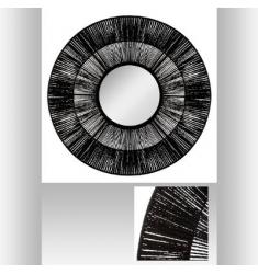 Espejo de cuerda etnica diámetro 76cm