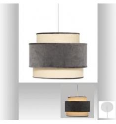 Lámpara Techo de terciopelo gris D38x30cm