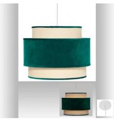 Lámpara Colgante Terciopelo Verde D38x30cm