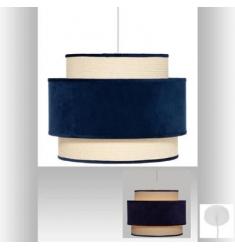 Lámpara colgante de terciopelo azul  D38X30cm