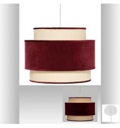 Lámpara colgante de terciopelo rojo de  D38X30cm