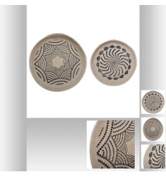 Set 2 piezas pared de yute D48-38cm