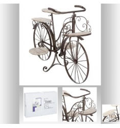 Bicicleta madera metal, plantas-decorar 97x64cm