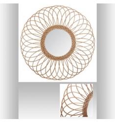 Espejo de ratán 58cm diametro