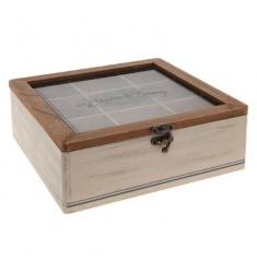 Caja the madera 9 compartimentos  L.23 x P.23