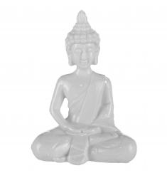 Budha porcelana 16 cm.blanco