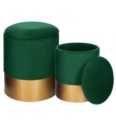 Set 2 pufs 36x44-32x38 verde