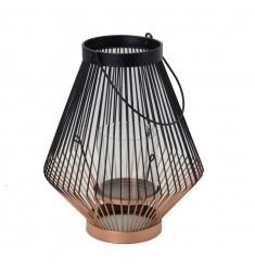 Lámpara metal 28 cm. alto