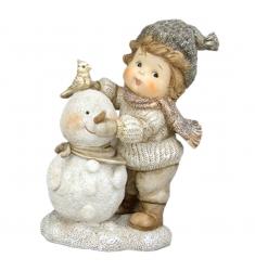 Figuras niños bola de nieve