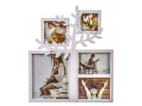 Portafoto multiple 5 arbol blanco