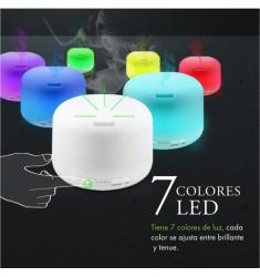 Brumificador LED 300ml. redondo con mando