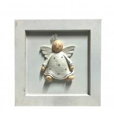 Cuadro angelito 20x20 cm.