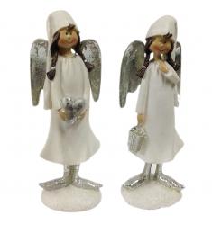 Angel niña blanco-plata