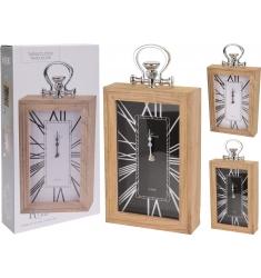 Reloj madera 30x20 cm.