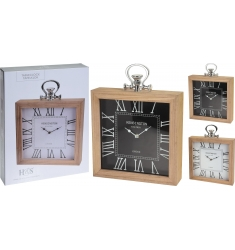 Reloj madera 30x30 cm.